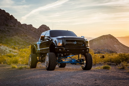 Ford F-250 with RBP MIDNIGHT GRILLE